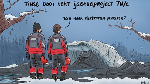 cartoon ijsbrug tueindhoven